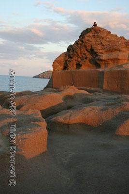 Punta Eolo al tramonto