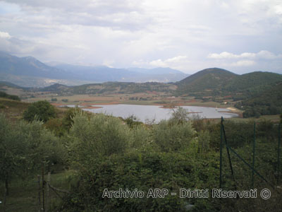 Panorama del lago di Canterno