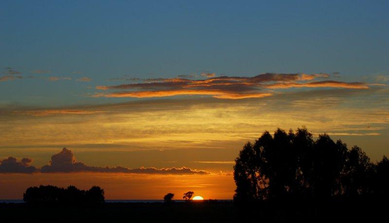 tramonto in Riserva