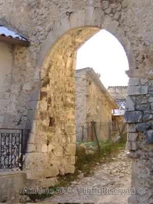 Scorcio del borgo di Corvaro