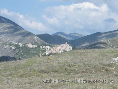 Veduta su  Santo Stefano di Sessanio