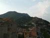 Veduta del Monte Soratte e del centro storico di Sant' Oreste