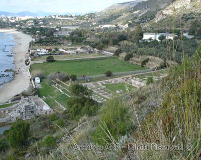 Panorama del sentiero natura Villa di Tiberio