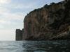 Falesie viste dall'area marina protetta